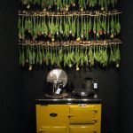 Walldecoration with hanging Tulips - Blooming Vision